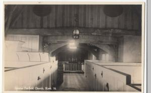 Kent; Interior, Fairfield Church RP PPC By Norman, Unposted, c 1930's