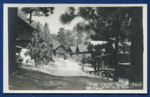 Pine Crest Resort California ca outside view old auto photo postcard