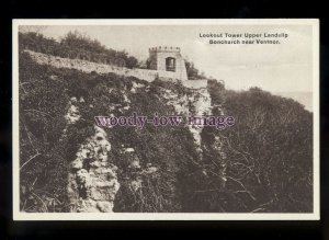 h2245 - Isle of Wight - Lookout Tower at Upper Landslip, Bonchurch - postcard