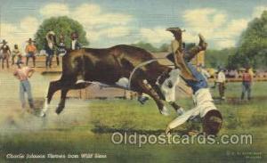 Charlie Johnson Western Cowboy, Cowgirl Postcard Postcards  Charlie Johnson