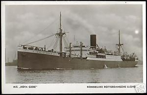 Royal Dutch Lloyd, M.S. Kota Gede (1940s) RPPC