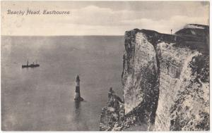 Beachy Head, Eastbourne, 1910 used Postcard