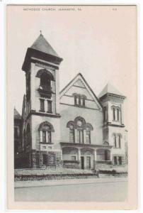 Methodist Church Jeannette Pennsylvania postcard
