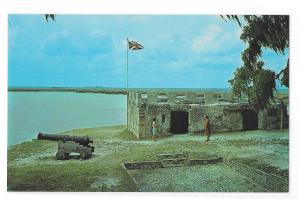 Fort Frederica St Simons Island Georgia National Monument Vntg Postcard