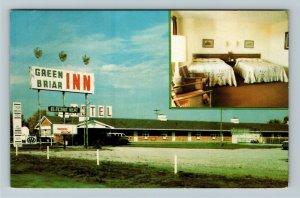Sturgis MI- Michigan, Green Briar Motor Inn, Vintage Chrome Postcard