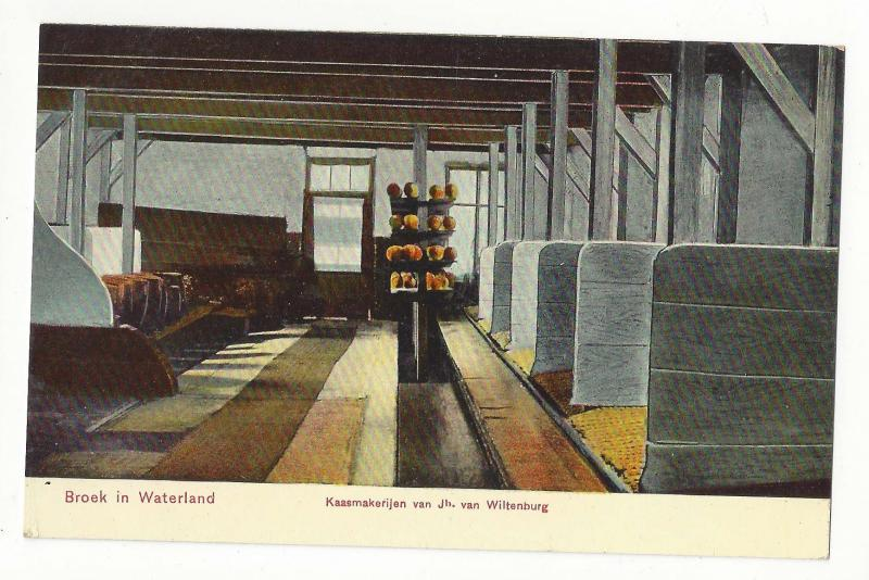 Netherlands Broek in Waterland Kaasmakerijen Cheese Making c 1910 Vtg Postcard