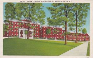 North Carolina Winston Salen Salem College Founded In 1771