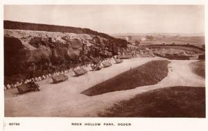Ogden Rock Hollow Park Halifax Vintage Real Photo Postcard