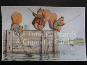 Margaret Tempest: FISHING c1938 showing Animal Characters - No.52/6467
