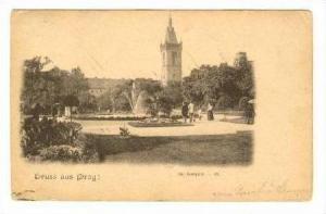 Gruss aus Prag!, Austria, PU 1901  Der Karlsplatz