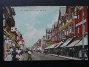 Essex SOUTHEND ON SEA High Street & TIPPERS HOTEL & RESTAURANT c1905 Postcard