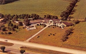 Lewes Delaware panoramic aerial view Red Mill Motel vintage pc ZE686361