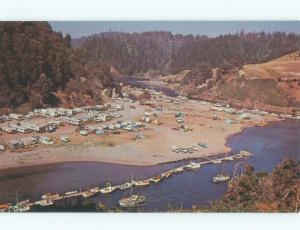 Unused Pre-1980 ALBION FLAT AERIAL VIEW Mendocino - Near Fort Bragg CA d6753