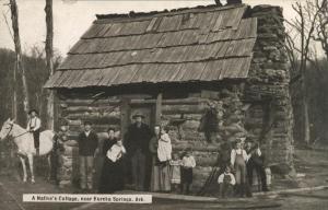 AR Eureka Springs Log Cabin 1930s  RPPC