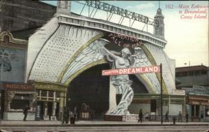 Coney Island Dreamland Main Entrance c1910 Postcard