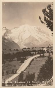 RP: Highway Leading To YAKIMA PARK, RAINIER NATIONAL PARK, Washington, 1935
