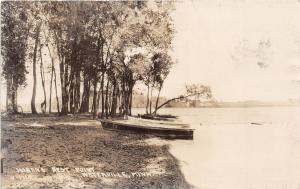 D16/ Waterville Minnesota Mn 1926 RPPC Postcard Hoban's Rest Point Boat