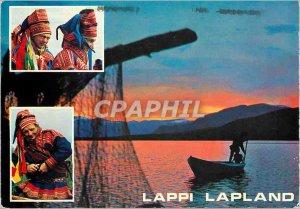 Postcard Modern Tervehdys Lapista Greetings from Lapland