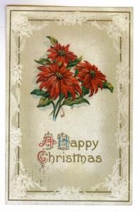 Whitehall to Petoskey, Michigan 1912 used, embossed Christmas Postcard