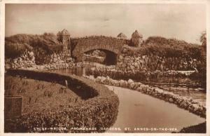 St Annes on the Sea Stone Bridge Promenade Gardens Postcard