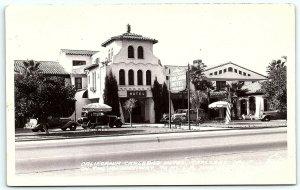 VTG Postcard Real Photo RPPC California CA Carlsbad Hotel 1938 Car Frashers B1