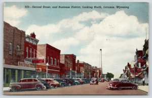 Laramie WY~Second Street~Safeway Grocery~Paris Cafe~The Hub~1940s Cars~Linen
