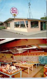 MORRO BAY, CA California    The  SHELL  SHOP   c1960s  Roadside     Postcard