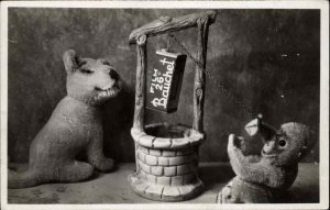 Photography Camera Film Adv Stuffed Animals 26 BAUCHET Real Photo Postcard