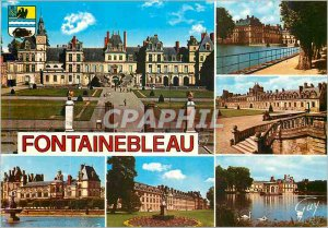 Modern Postcard Fontainebleau and Wonders (Seine et Marne) the Palace the Whi...