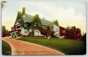 Pasadena California~An Artistic Home~Ivy Covered Dormers & Chimney~c1910