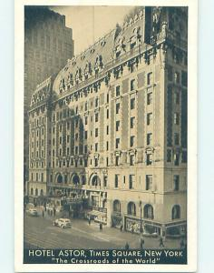 1940's ASTOR HOTEL AT TIMES SQUARE New York City NY H1520