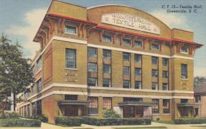 Textile Hall, GREENVILLE, South Carolina, 1930-1940s