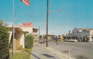 ZEPHYRHILLS, Florida, PU-1968 ; Hotel Zephyr, Store Fronts, Classic Cars