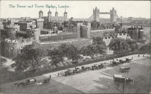 London The Tower and Tower Bridge