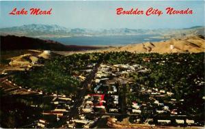 Lake Mead Boulder City Nevada aerial view Postcard