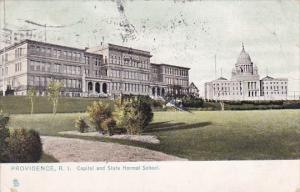 Rhode Island Providence Capitol And State Normal School 1909