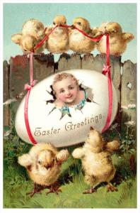 Easter   Child hatched from Egg