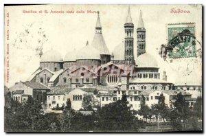 Old Postcard Padova Basilica di S Antonio Vista della Mura
