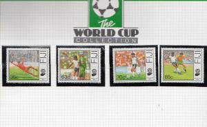 Fiji Football World Cup Team 1990 Limited Edition Stamp Collection