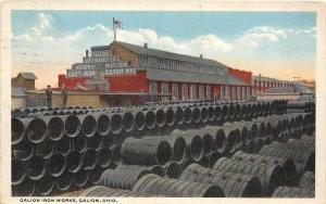 G34/ Galion Ohio Postcard 1926 Galion Iron Works Sewer Pipe