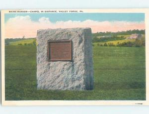 Unused W-Border MONUMENT SCENE Valley Forge - Philadelphia Pennsylvania PA F2258