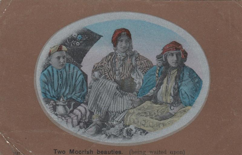 MOROCCO , 1900-10s ; Two moorish Beauties (Being waited upon)
