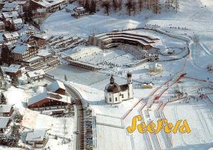 Seefeld Tirol, Olympia Seefeld Sport und Kongresszentrum Winter Kirche