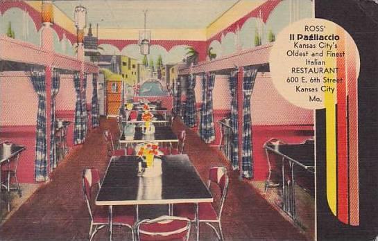 Missouri Kansas City Ross Il Pagliaccio Italian Restaurant