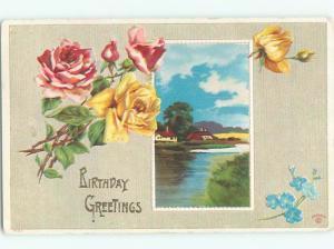 Divided-Back BEAUTIFUL FLOWERS SCENE Great Postcard AA2987