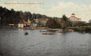 Albany New York~Kinderhook Amusement Park~Roller Coaster(s) c1910 Postcard