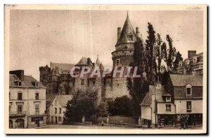 Old Postcard Brittany glass of Chateau entire West Coast View