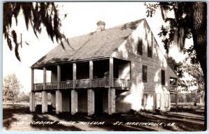 RPPC  ST. MARTINVILLE, Louisiana  LA   OLD ACADIAN HOUSE MUSEUM 1940s  Postcard