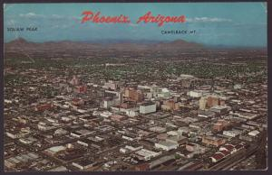 Bird's Eye View,Phoenix,AZ Postcard BIN