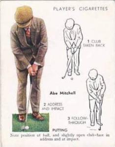 Player Vintage Cigarette Card Golf 1939 No 20 Putting Abe Mitchell